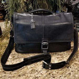 COACH Transatlantic Leather Business Briefcase Bag